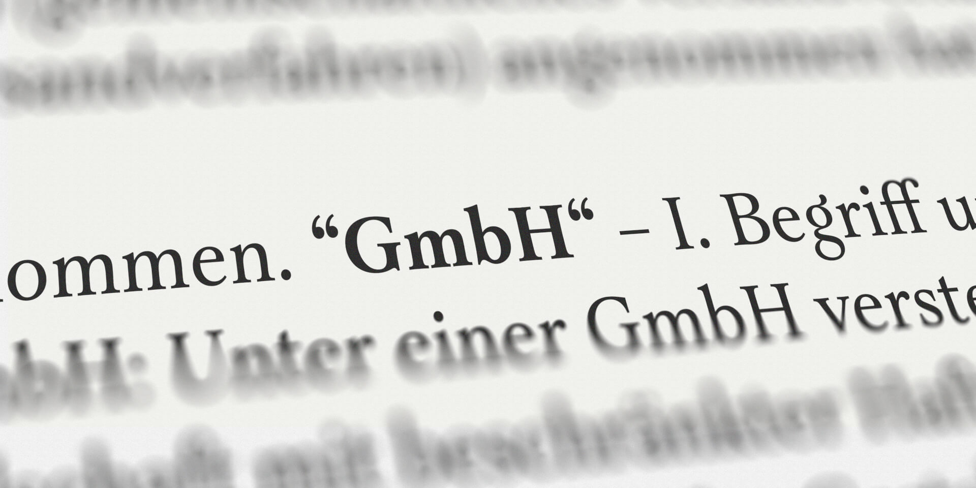 Begriff GmbH im Gesetzestext